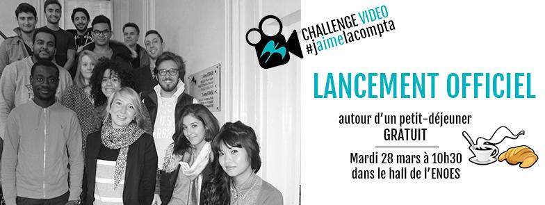 , Lancement officiel du Challenge vidéo #jaimelacompta auprès des étudiants