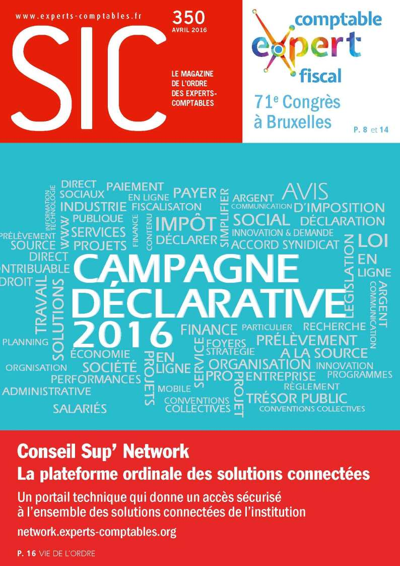 Couverture SIC 350 avril 2016