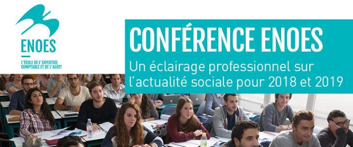 , Conférence sociale sur l'actualité sociale et jurisprudentielle en droit du travail pour 2018 et 2019