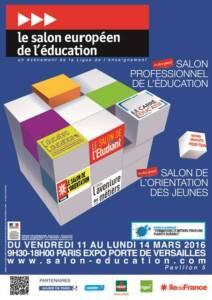 , L'ENOES au salon de l'éducation du 11 au 14 mars 2016