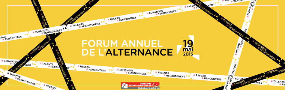 Bandeau do forum annuel de l'alternance 2015