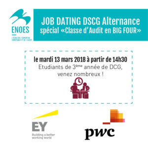 , Job dating DSCG Alternance, spécial BIG FOUR le 13 mars 2018
