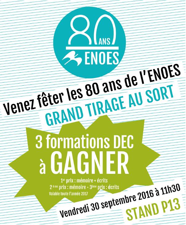 , Venez fêter les 80 ans de l'ENOES sur notre stand au Congrès de l'Ordre à Bruxelles
