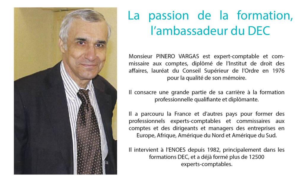 , Entretien exclusif avec M.PINERO VARGAS, formateur du DEC à l'ENOES