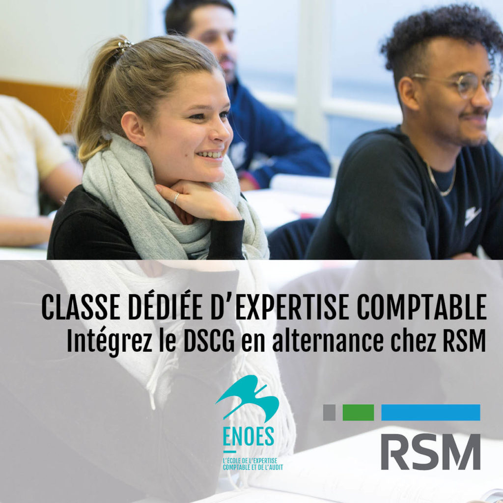 , Classe dédiée d'expertise comptable avec notre partenaire RSM
