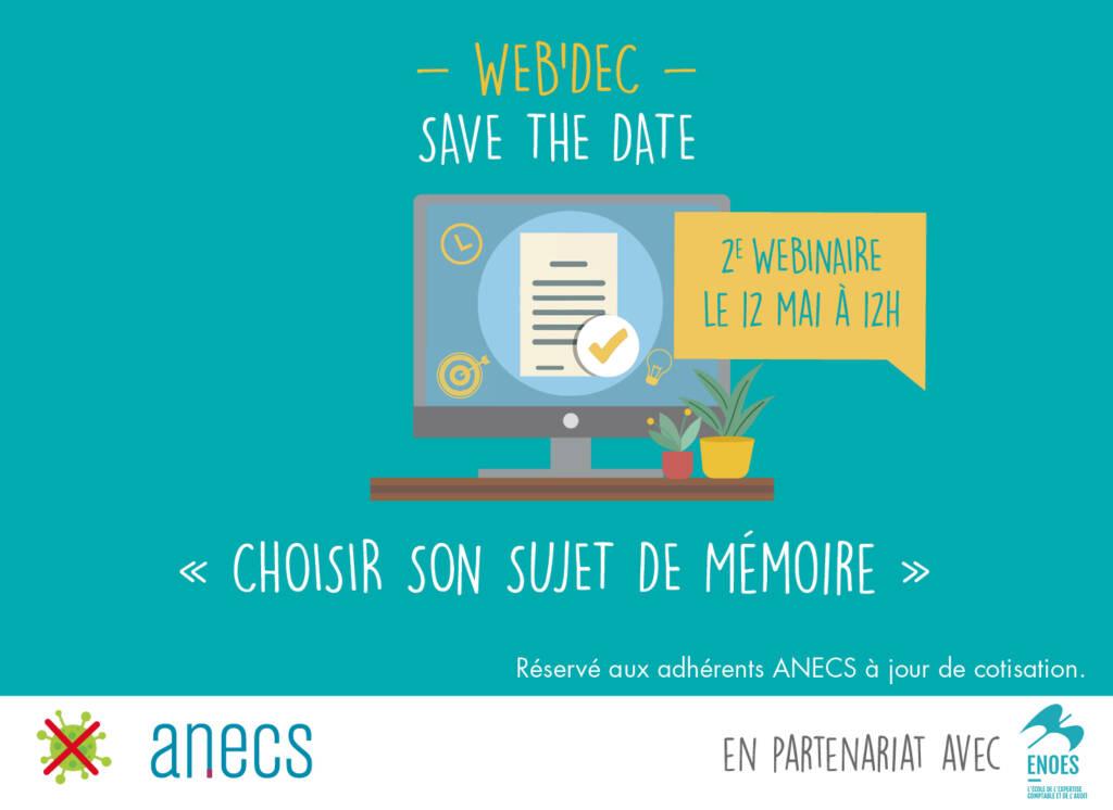 , Webinaire DEC : nouvelle session le 12 mai