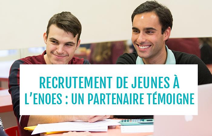 , Le recrutement des jeunes par un cabinet partenaire : témoignage