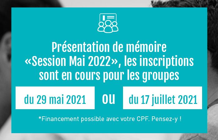 , Mémoire DEC Mai 2022 – Inscriptions en cours