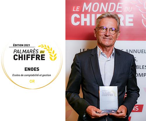 , L'ENOES reçoit pour la 6ème année consécutive le trophée OR de la meilleure école de Comptabilité et de Gestion